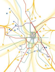 Scénario Nord 3e ligne métro janvier 2015 Tisséo