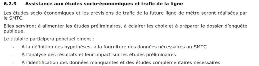 Internalisation études socio-éco TAE 3e ligne métro Tisséo SMAT