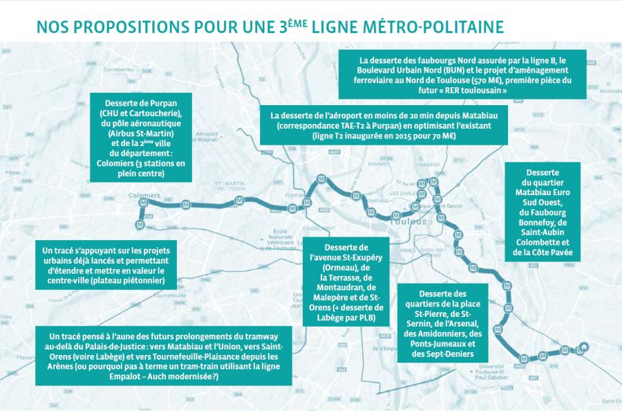 Nos propositions pour une 3e ligne métro-politaine et optimisée !